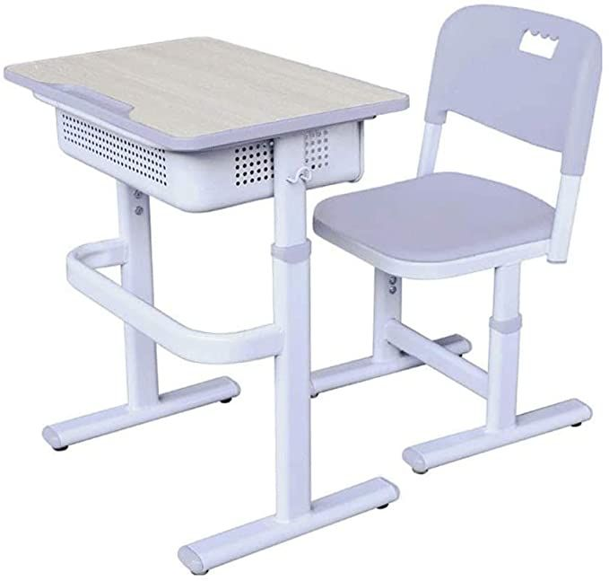 Zyk Student Desk And Chair Combo Height Adjustable Children S Desk And Chair Workstation With Dra In 2020 Childrens Desk And Chair Desk And Chair Set Kids Study Table