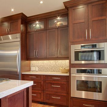 White Kitchen Countertops With Brown Cabinets best 25+ cherry cabinets ideas on pinterest | cherry kitchen