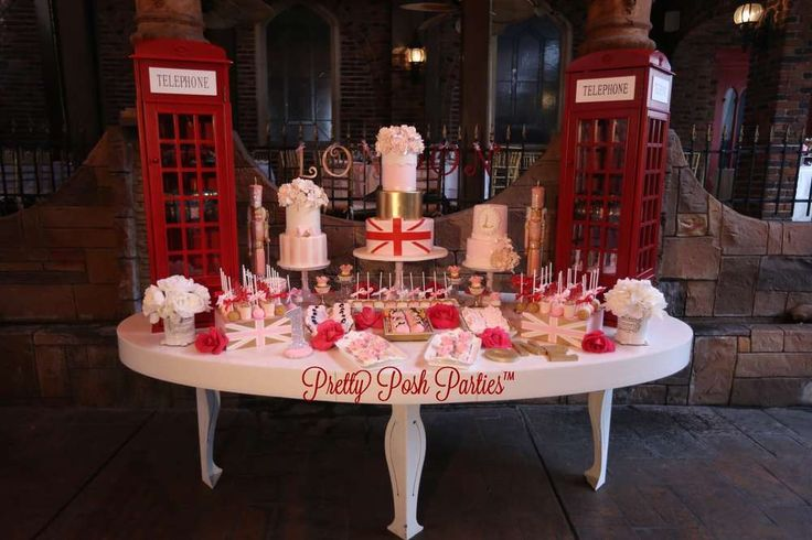 Incredible dessert table at a London birthday party! See more party planning ideas at CatchMyParty.com!