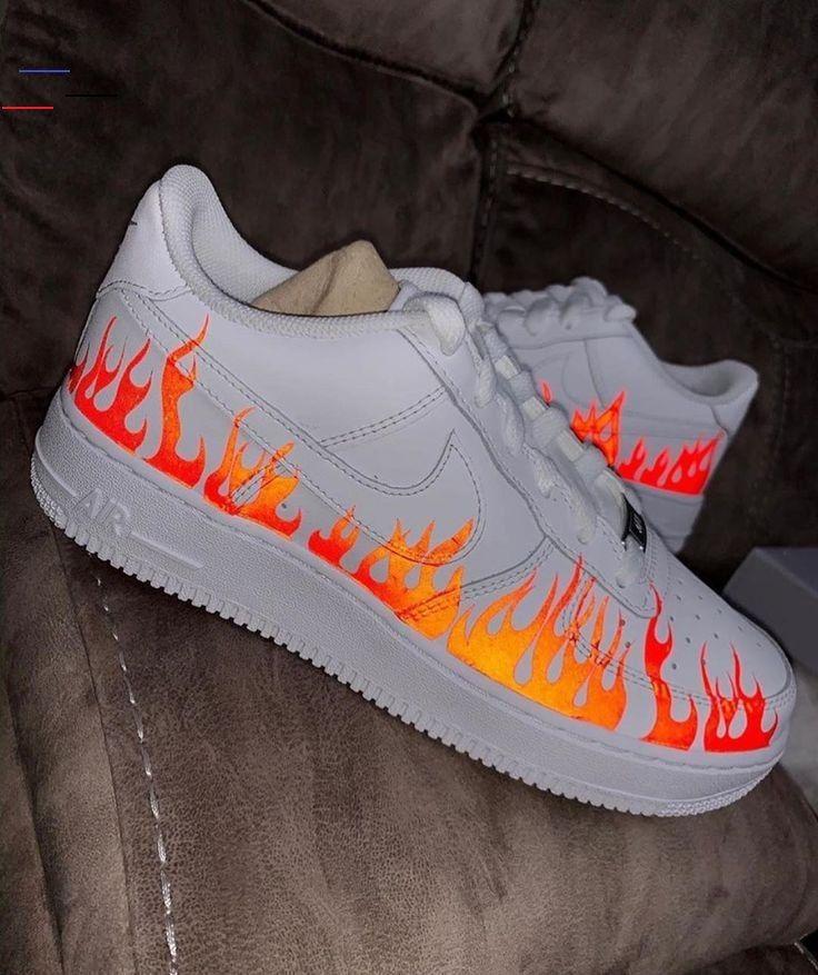 Soldes > air force one custom flamme > en stock