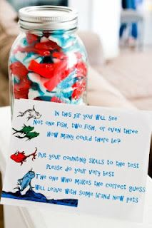 Dr. Seuss party game (lots of other cute ideas on this theme here) for pno at the fitness center