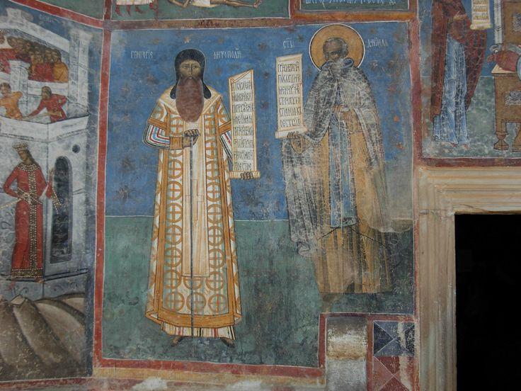 https://flic.kr/p/bw25Wt   Mănăstirea Voroneț . Frescele Bisericii: viața Sfântului Nicolae și Sf Ioan cel Nou (detalii).