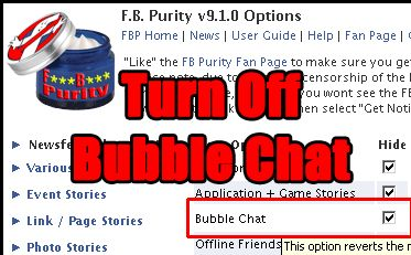 F B  Purity (Clean Up & Customize Facebook) — Remove