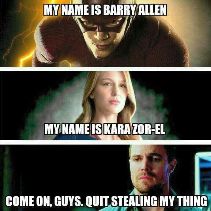 Poor Ollie. Lol |Humor||Funny posts||DC||Arrow||The Flash||Supergirl||TV Show humor|