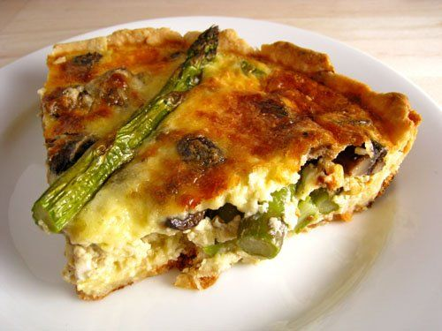 Asparagus and Mushroom Quiche - This is the best quiche ever, been looking for this recipe to make again for a while!