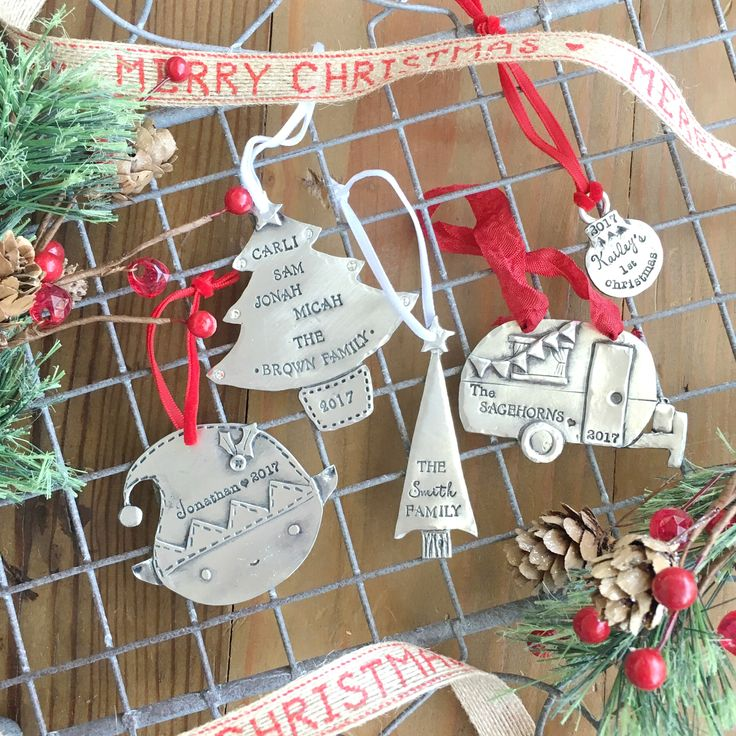 Personalized ornaments in a variety of shapes and sizes!