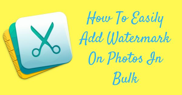 Are you looking for a software that easily watermarks pictures in in bulk? There is an effective method to discourage online stealing and this is by adding w
