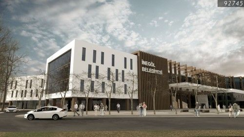 Katılımcı (MİMADU Mimarlık), İnegöl Belediyesi Hizmet Binası Yarışması - kolokyum.com
