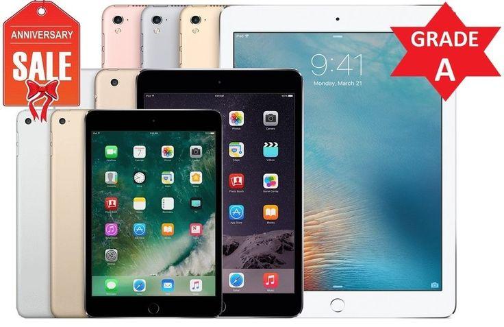 Apple iPad 2/3/4 Mini Air Pro   WiFi Tablet   16GB 32GB 64GB 128GB I GRADE A (R) #Apple