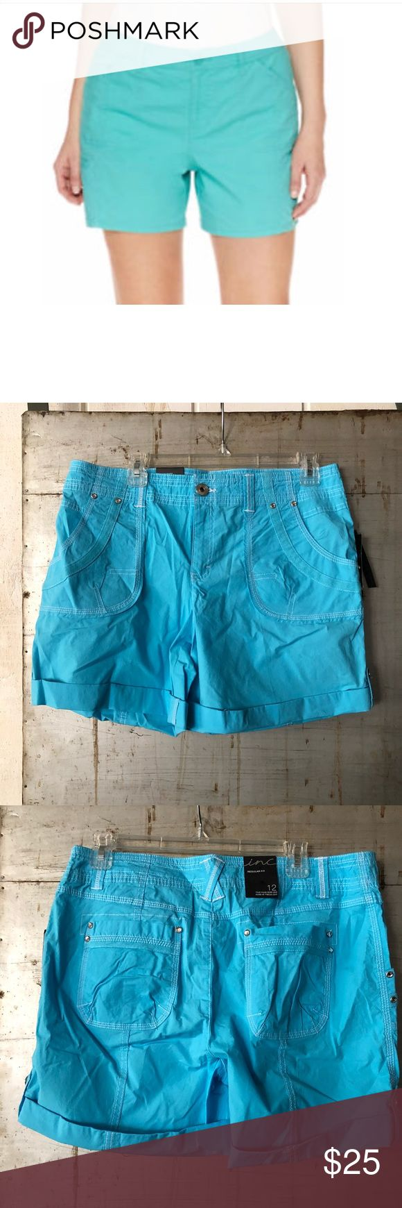 """Sky blue shorts Sky blue shorts INC international concepts via Macy's Inseam 6"""" rise 10"""" 📊Use size chart for fit  🚫modeling or trades (askers will be ignored) or lowballing  ✅ will consider offers made through BLUE offer button.   ✅ bundle 3 or more items for a custom offer using bundle feature 🌻 Social media: Business Instagram @soundsdarling INC International Concepts Shorts"""