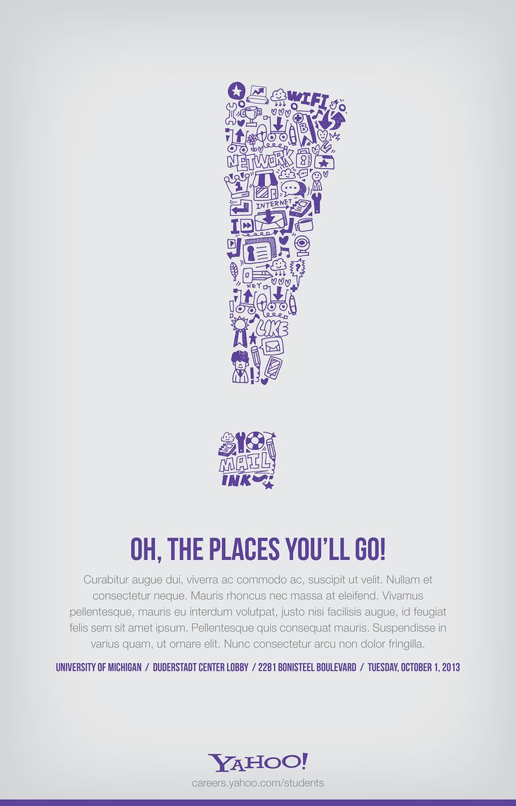 Yahoo! University Recruiting Poster on Behance
