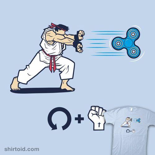 Hadouken Spinner | Shirtoid #alexpawlicki #apsketches #fidgetspinner #gaming #hadouken #ryu #streetfighter #videogame