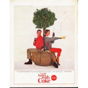 """1964 Coca-Cola Gardening Ad """"pause that refreshes"""".  From the back cover of the National Geographic magazine dated April, 1964.  (Vol. 125, No.4)"""