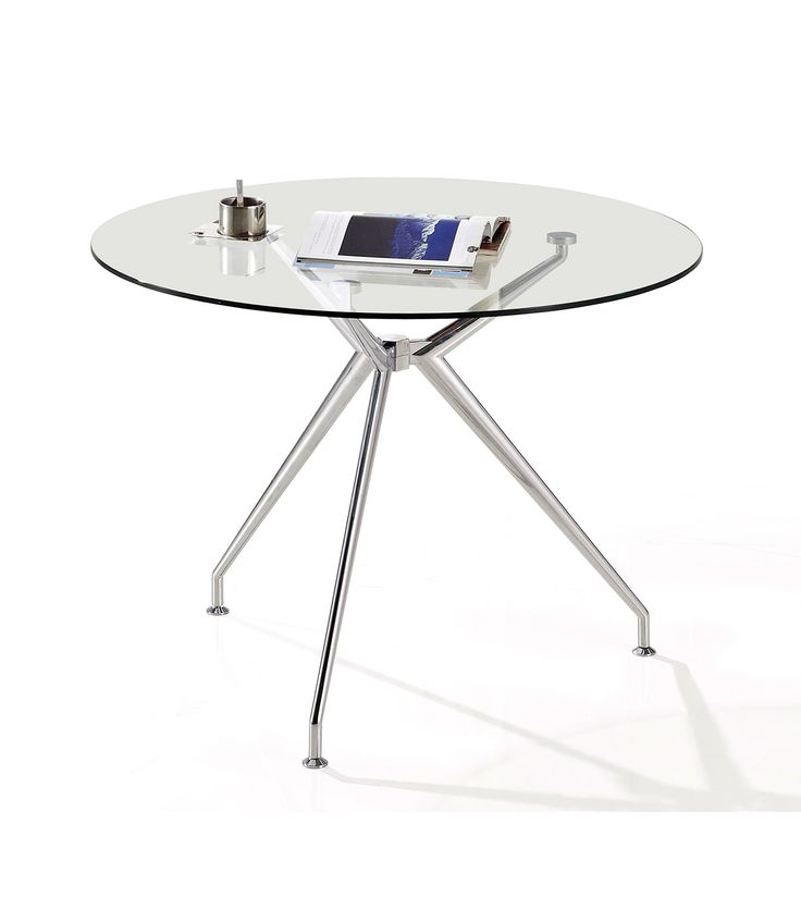Round glass table with designer leg finishing for the office. #office #design #commercial #furniture