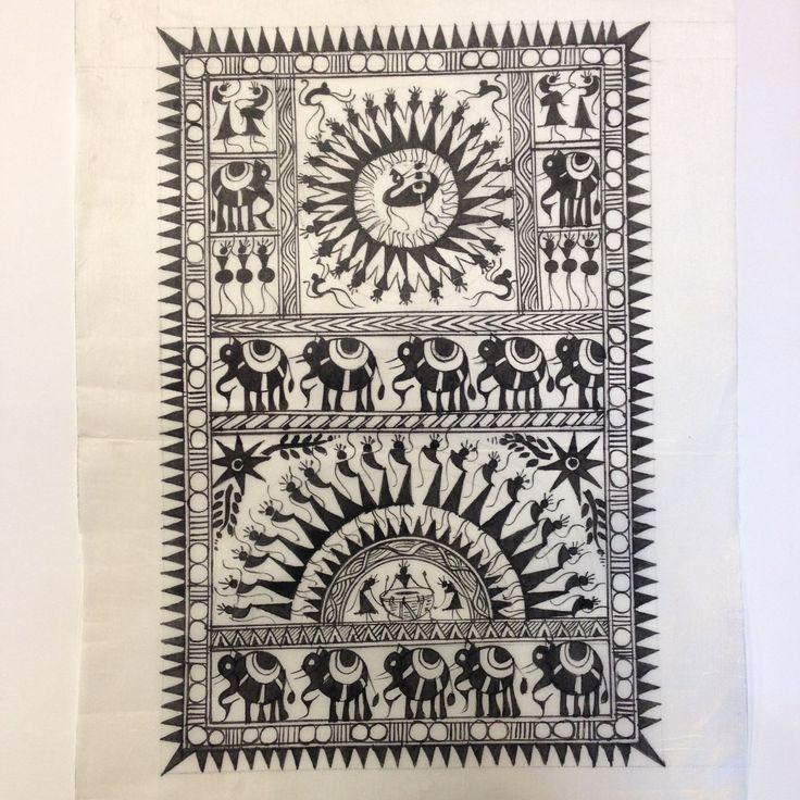 home decore Warli Art Painting