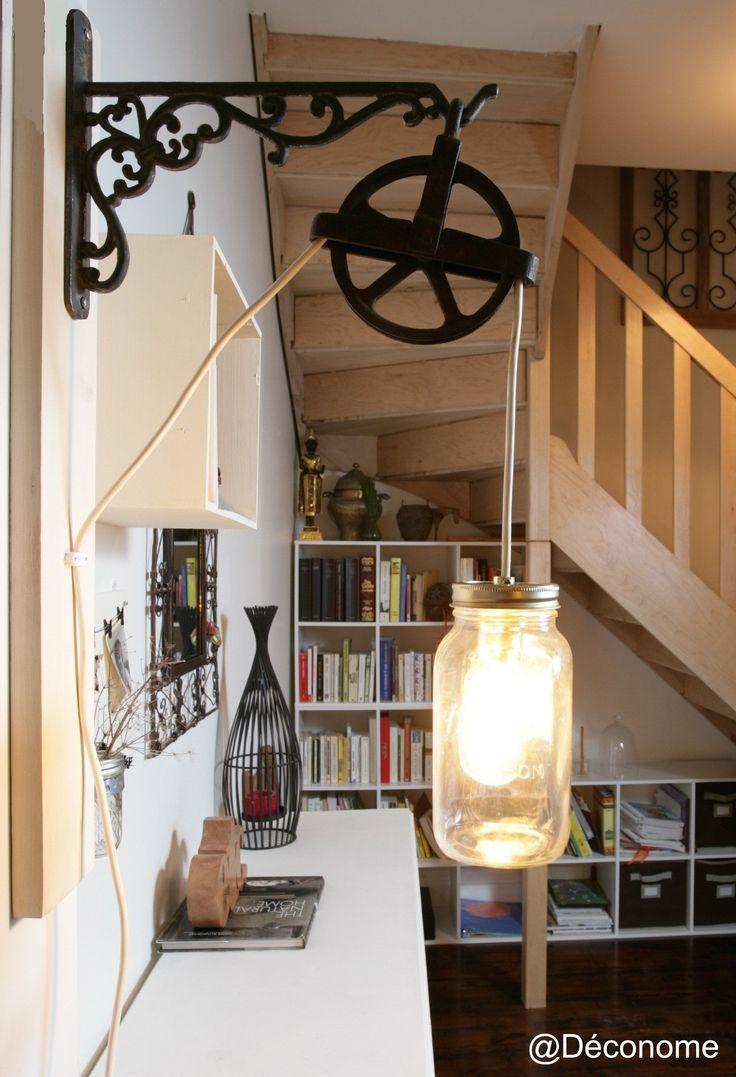 les 12 meilleures images du tableau luminaire industriel vintage sur pinterest luminaire. Black Bedroom Furniture Sets. Home Design Ideas