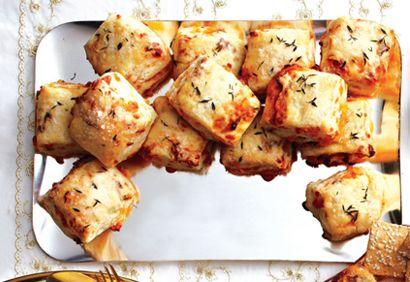 Bouchées feuilletées au #cheddar et au #bacon #bouchee