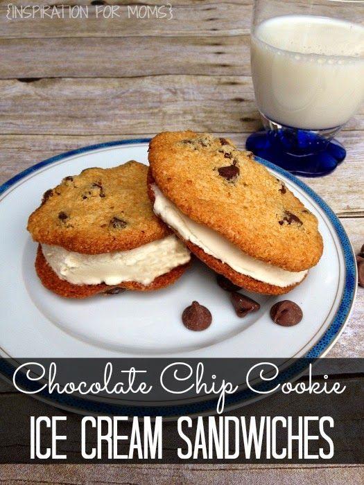 Gluten-Free Chocolate Chip Ice Cream Cookie Sandwich Recipe | www.inspirationfromoms.com #cookies #glutenfree #GF