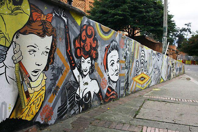 See Colombian street art on a Bogota bike tour