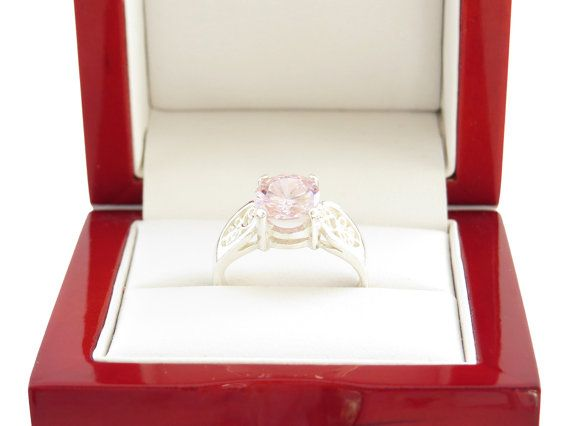 2 carat Pink Diamond Engagement Ring Filigree by TigerGemstones