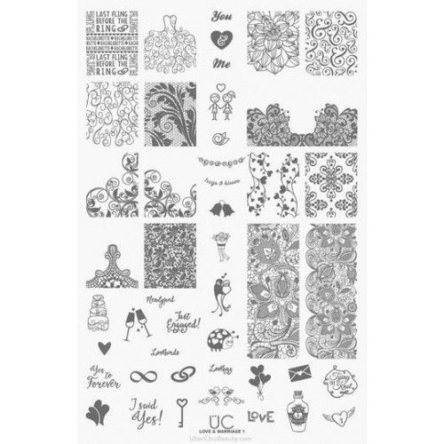 UberChic Beauty : UberChic Nail Stamping Plate - Love & Marriage 01 Shop here- www.color4nails.com Worldwide shipping available
