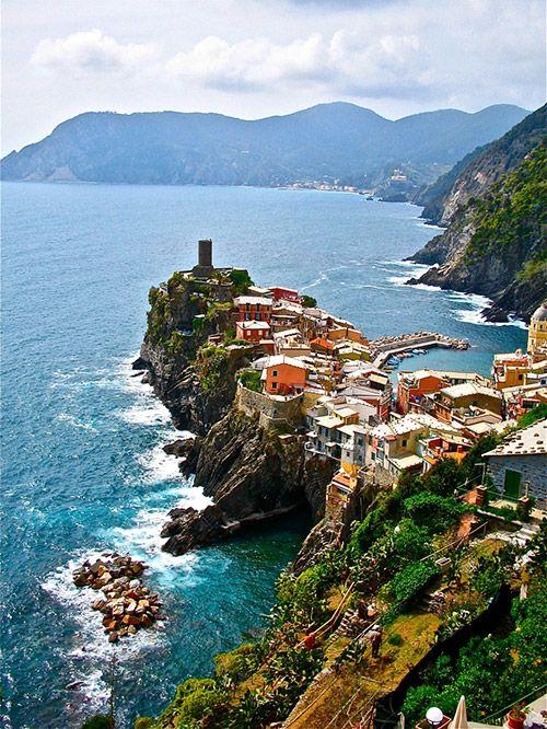 Rocky Village, Vernazza, Italy.