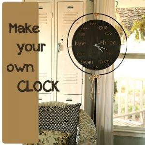 Several Decorating Project Ideas On This Link From TCB.and I Love This Clock  Idea.