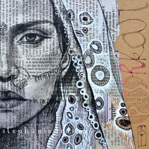 Collage drawings by Stephanie Ledoux | Viola.bz