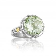 SR12312 Mint Green Prasiolite ring available from Thomas S Fox Diamond Jewelers 616.942.2990