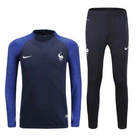 Survetement Equipe de France 2016-2017 Noire Bleu