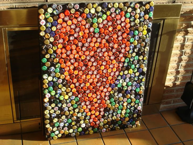 Bottle Cap Wall Art 14 best bottle cap art images on pinterest | bottle cap art