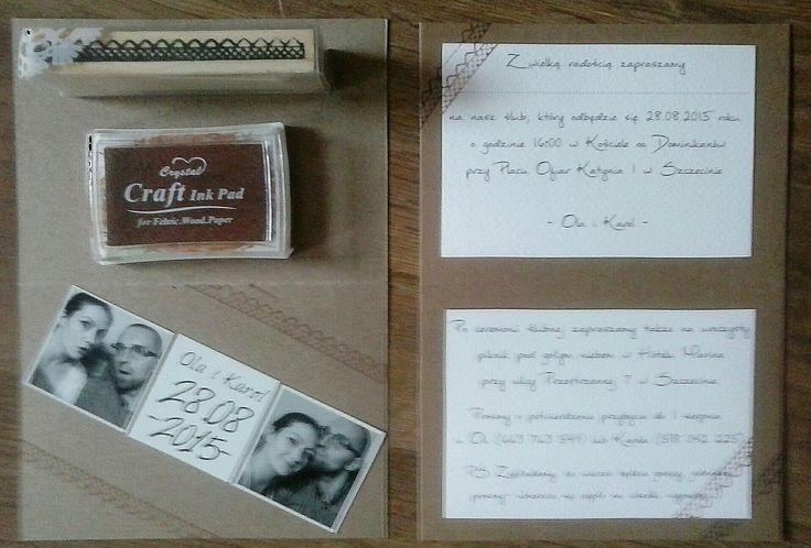 Wedding DIY- retro personalized invitations.