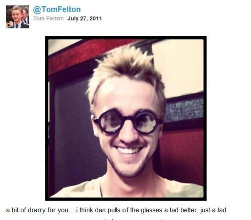 Tom Felton twitpic