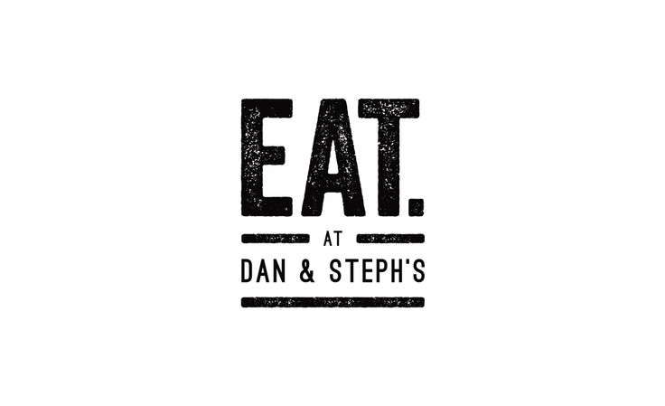 EAT at Dan & Steph's logo design by ITALIC / #branding #identity #design #logo