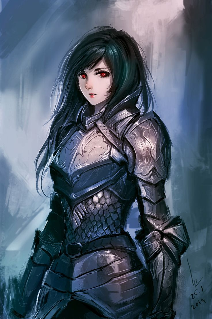 Armor study / practice by chaosringen.deviantart.com on @deviantART. Female armour that's actually pretty realistic. I've always thought the breastplate should go down to her waist and protect her stomach as well, not leave it to the scale/chainmail only, although this alternative is way better than having a corset on, or nothing. This usage could be argued about regarding flexibility,too...