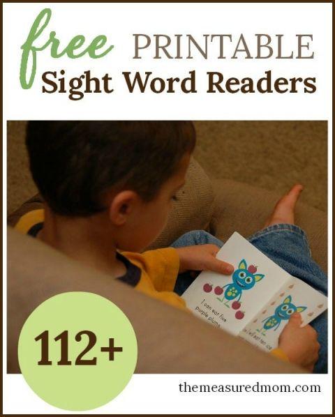 free printable sight word readers 112+