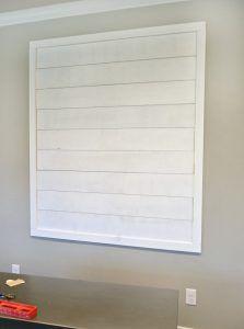 DIY Shiplap Display Wall