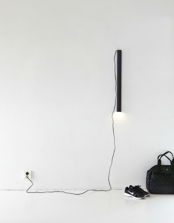 black tube lamp