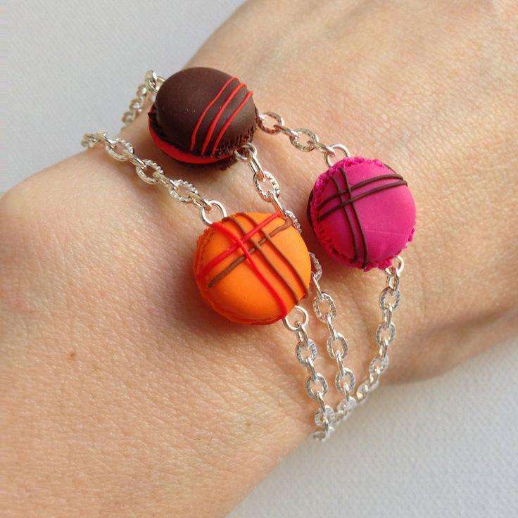 Bracelet minis macarons en pâte fimo : Bracelet par sidofimo-creation