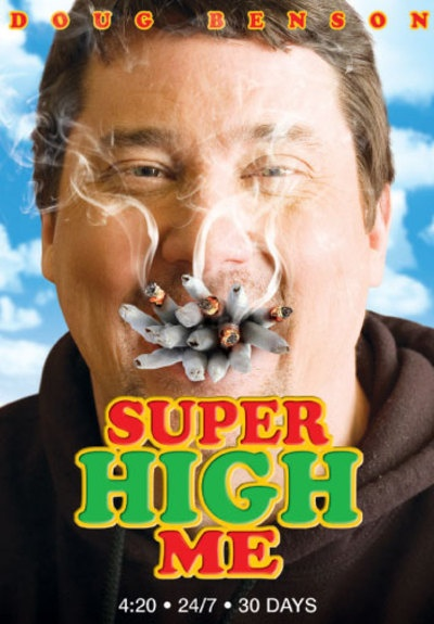 """Super High Me (2008): Explores the current debate over medical marijuana with comedian and former Stoner of the Year Doug Benson. As part of his journey, Benson ingests and inhales medical marijuana for 30 consecutive days in order to get """"super high."""" But first, Benson must go 30 days without any marijuana and undertake..."""