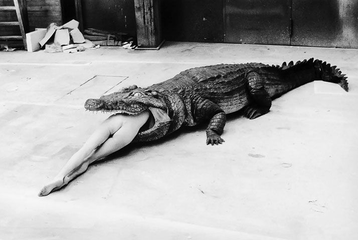 Helmut Newton – A Scene from Pina Bausch's Ballet, 1983  photo © Helmut Newton Estate