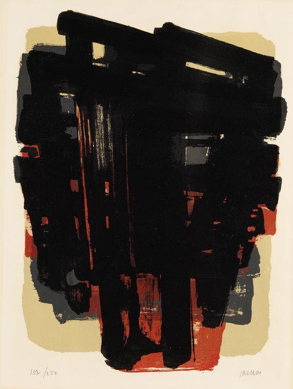 Pierre Soulages - Lithographie No. 8