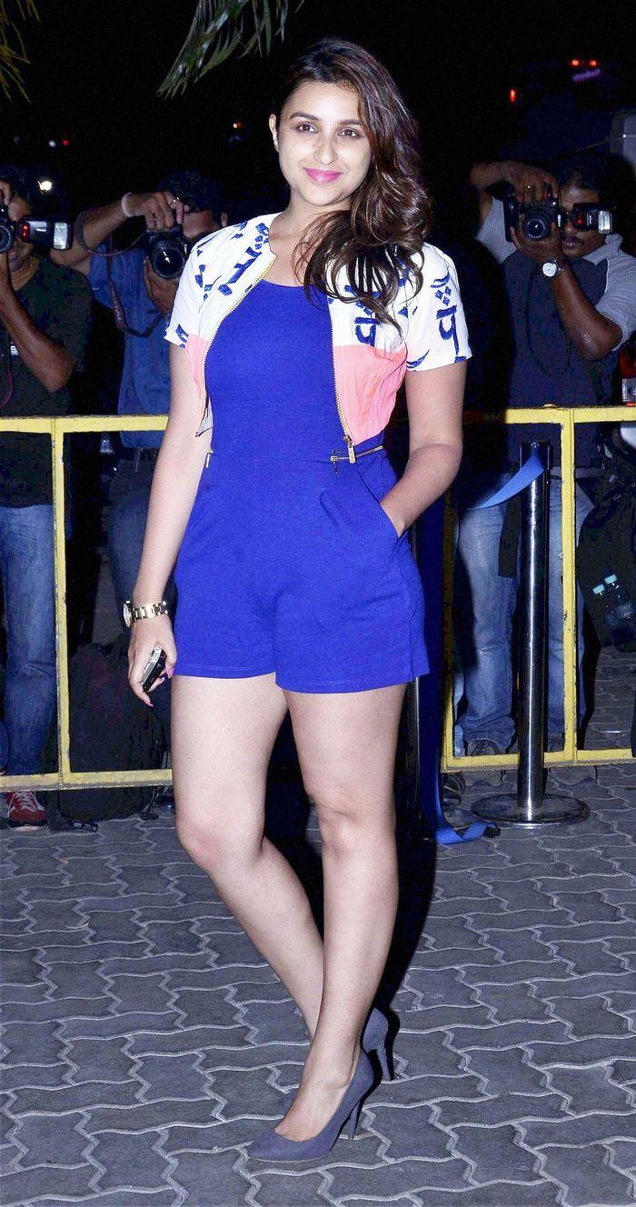Parineeti Chopra wore a brightly coloured playsuit at Karan Johar's birthday bash.