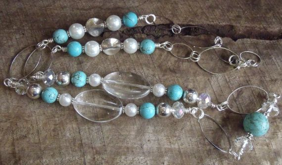 Amazing handmade Loyal long necklace  Turquoise by BrigittesJewels, $58.00
