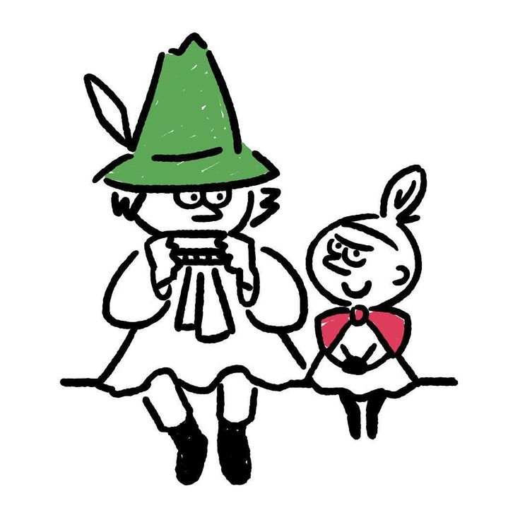 Snufkin & Little my #snufkin #littlemy #moomin