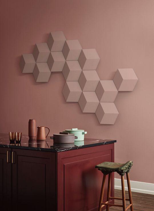 Bang & Olufsen presented the hexagon speaker BeoSound Shape dressed in Kvadrat wool textile during Milan Design Week