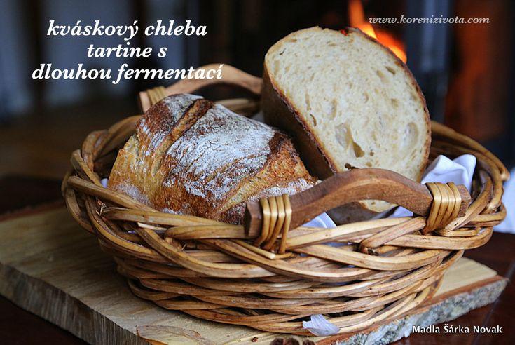 Kváskový chleba tartine s dlouhou fermentací a mateřským těstem