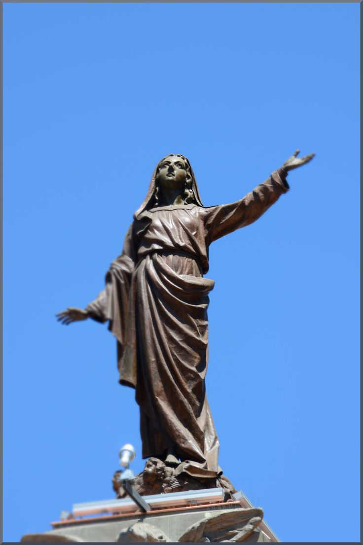 Statue on the Metropolitan Cathedral in Santiago de Chile