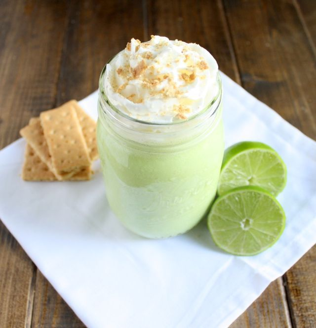 This Key Lime Smoothie tastes just like key lime pie, but without all of the calories!