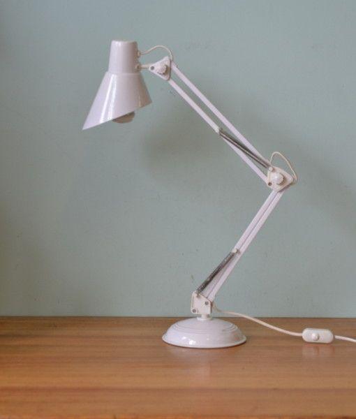 office desk lighting. retro office desk lamp bed light metal industrial articulated white lighting